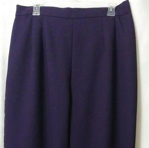 Ladies. 18W. deep purple dress slacks.